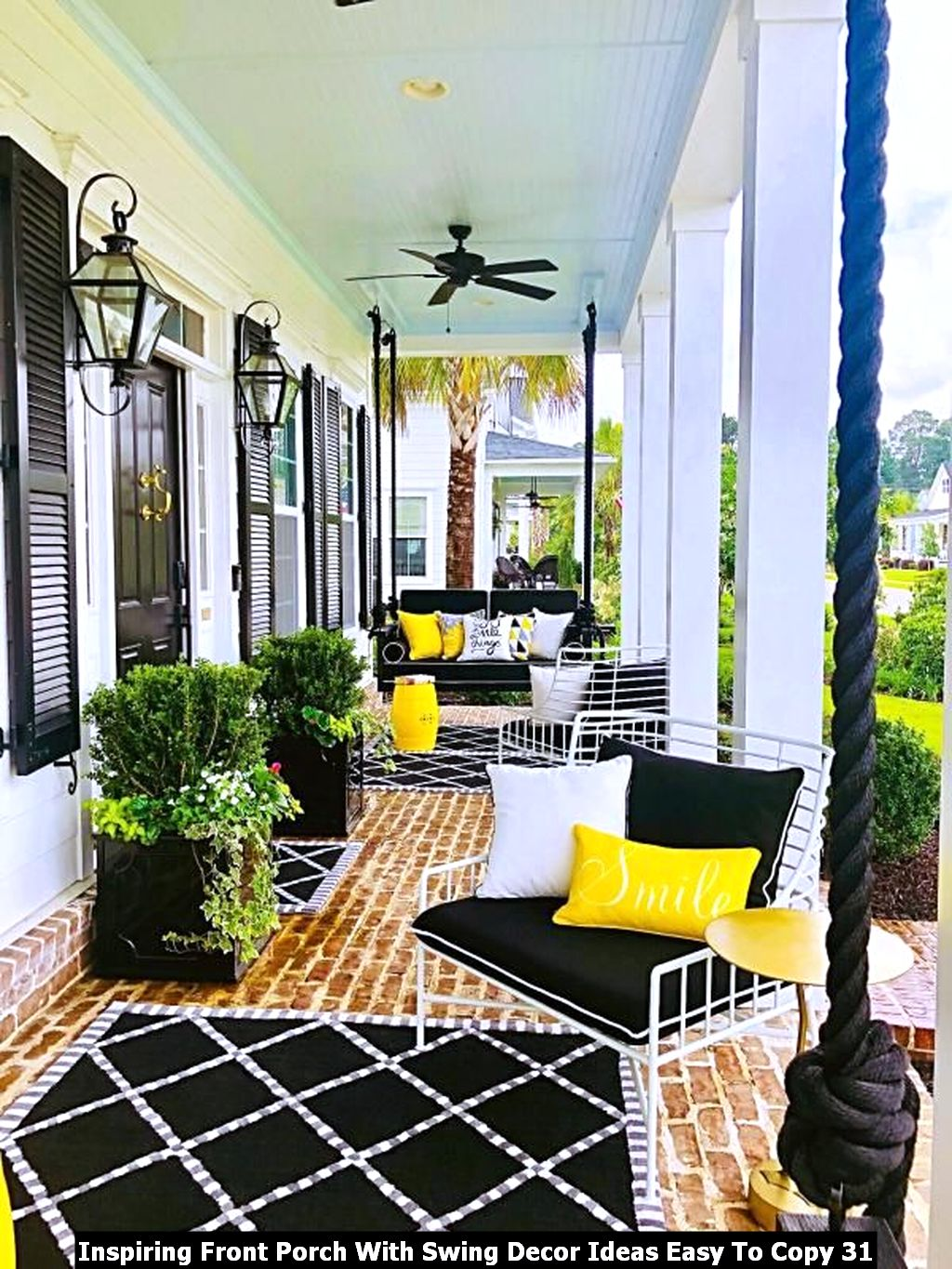 Inspiring Front Porch With Swing Decor Ideas Easy To Copy 31