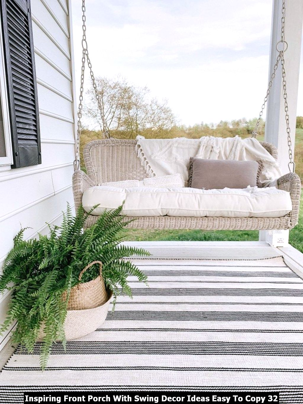 Inspiring Front Porch With Swing Decor Ideas Easy To Copy 32