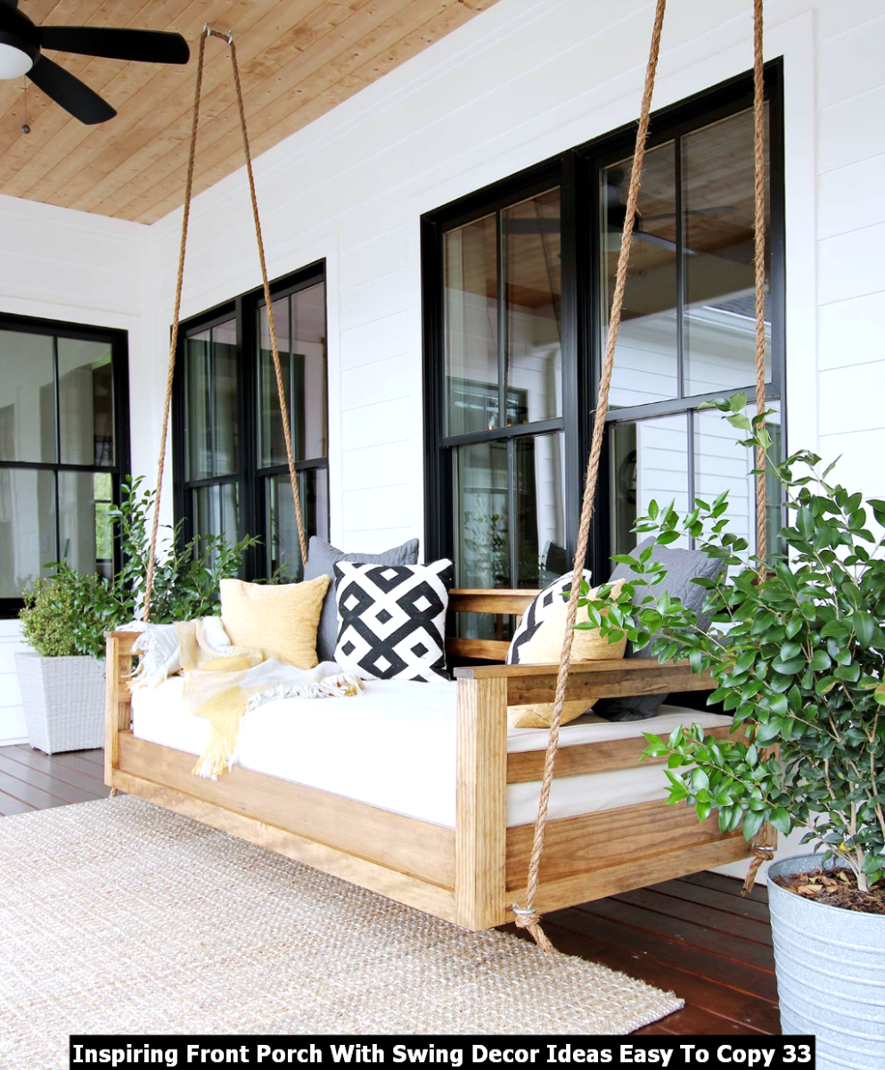 Inspiring Front Porch With Swing Decor Ideas Easy To Copy 33