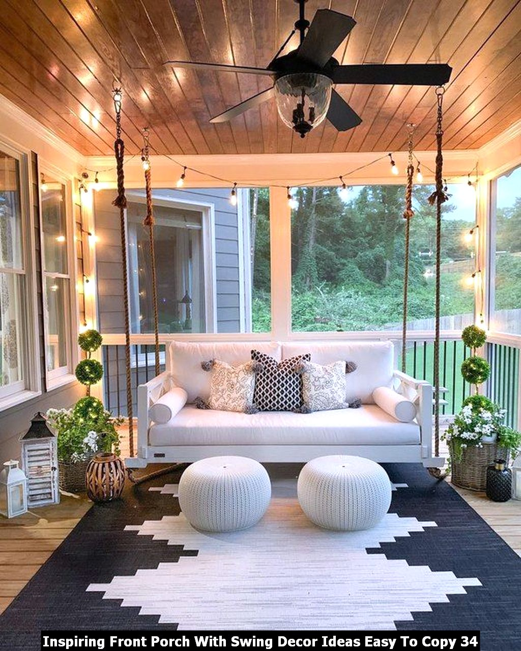 Inspiring Front Porch With Swing Decor Ideas Easy To Copy 34