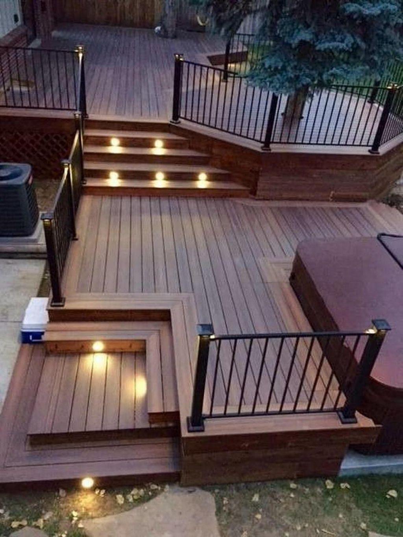 Inspiring Wooden Deck Patio Design Ideas For Your Outdoor Decor 12