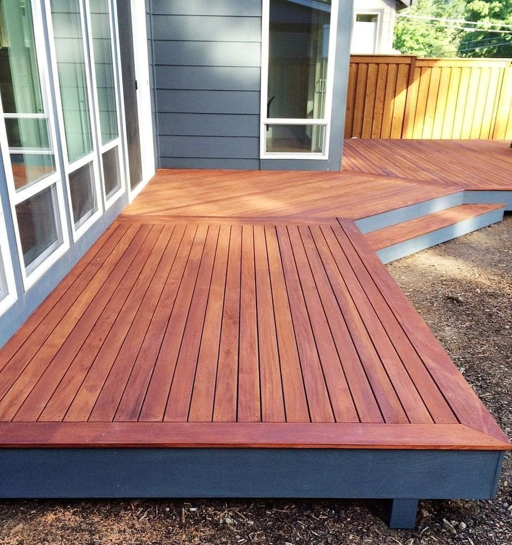 Inspiring Wooden Deck Patio Design Ideas For Your Outdoor Decor 19
