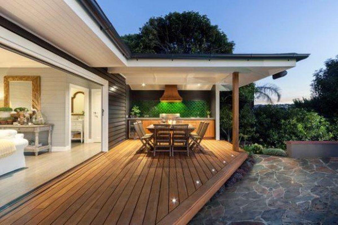 Inspiring Wooden Deck Patio Design Ideas For Your Outdoor Decor 37