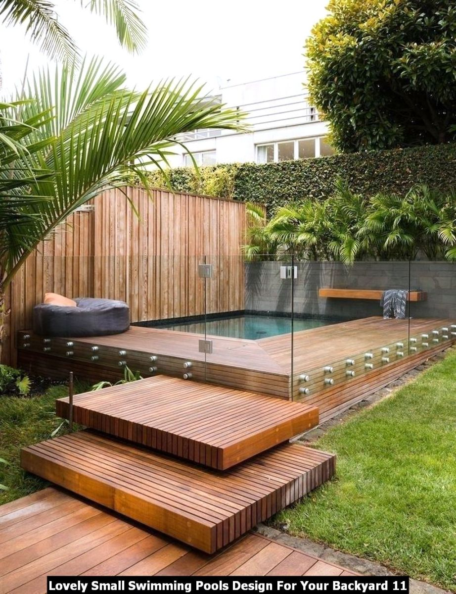 Lovely Small Swimming Pools Design For Your Backyard 11