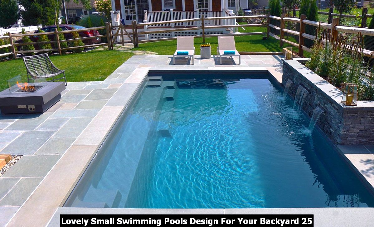 Lovely Small Swimming Pools Design For Your Backyard 25