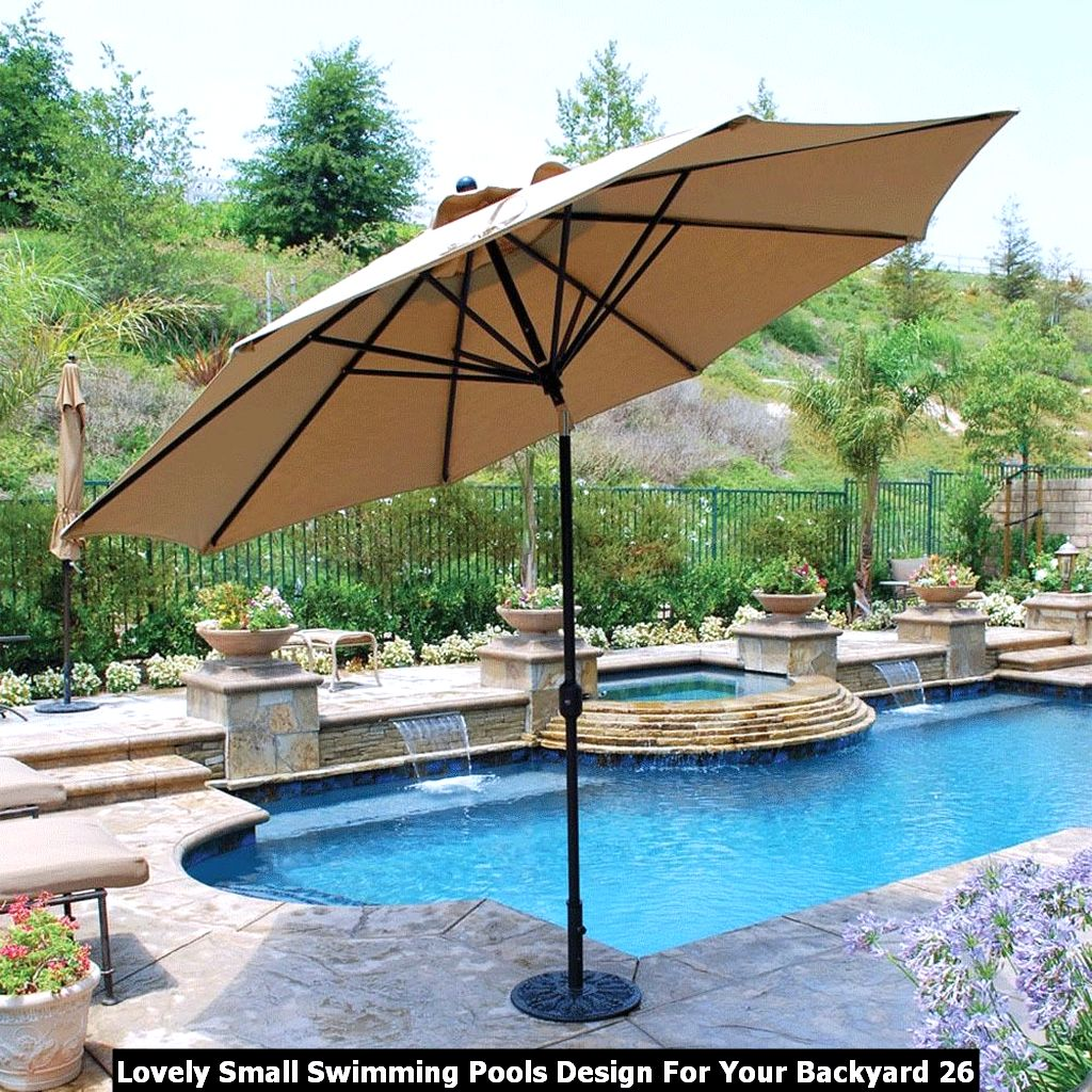 Lovely Small Swimming Pools Design For Your Backyard 26