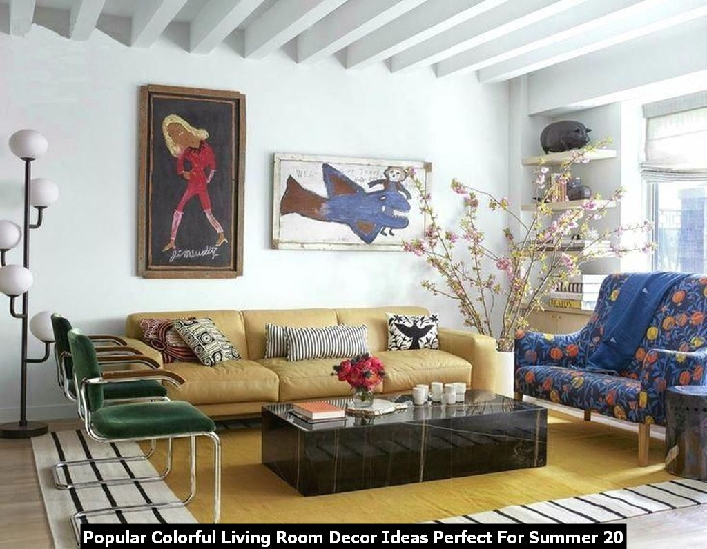 Popular Colorful Living Room Decor Ideas Perfect For Summer 20
