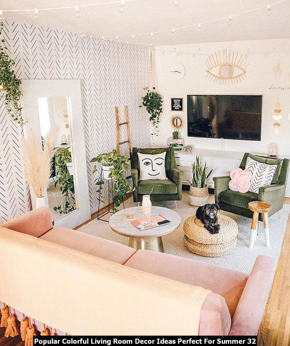 Popular Colorful Living Room Decor Ideas Perfect For Summer 32