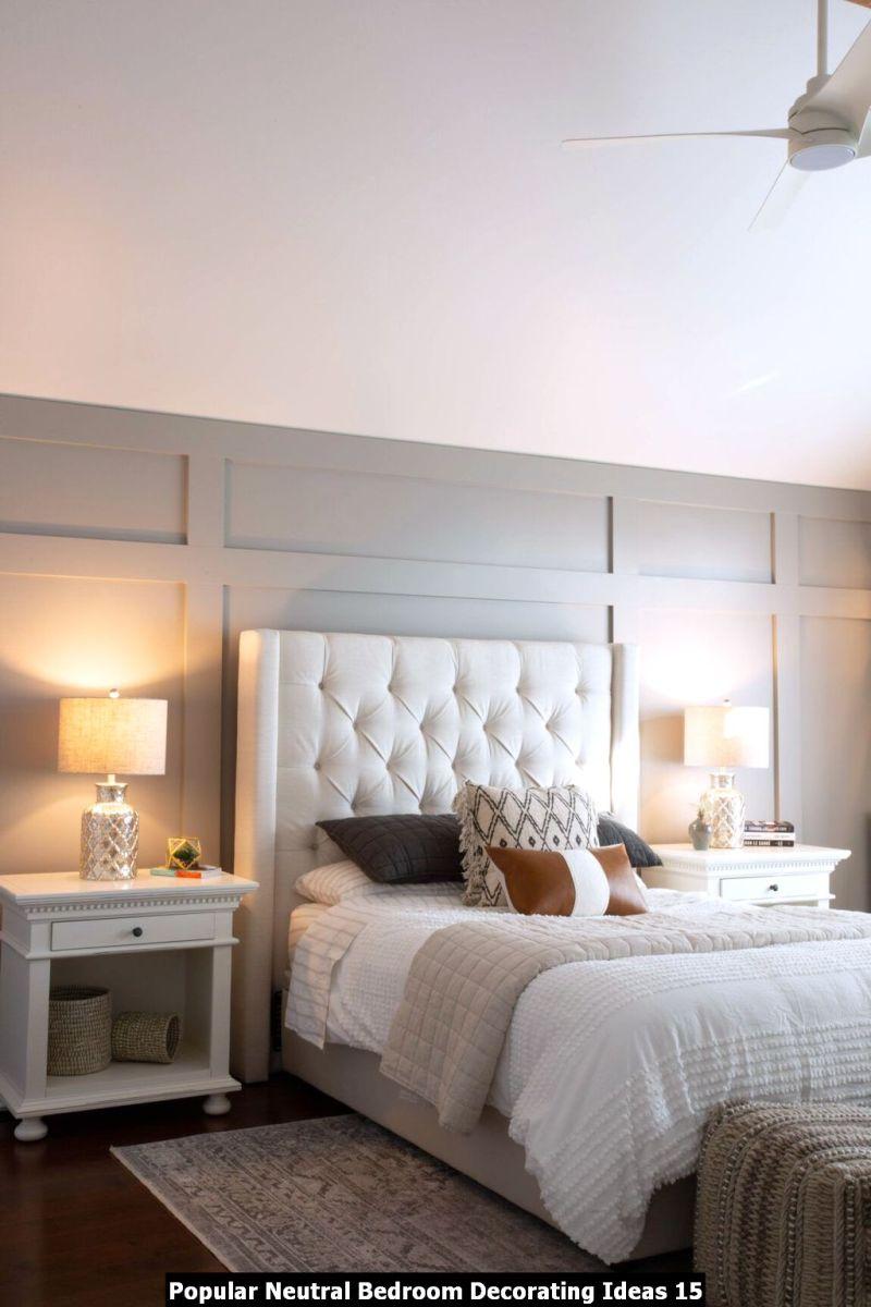 Popular Neutral Bedroom Decorating Ideas 15