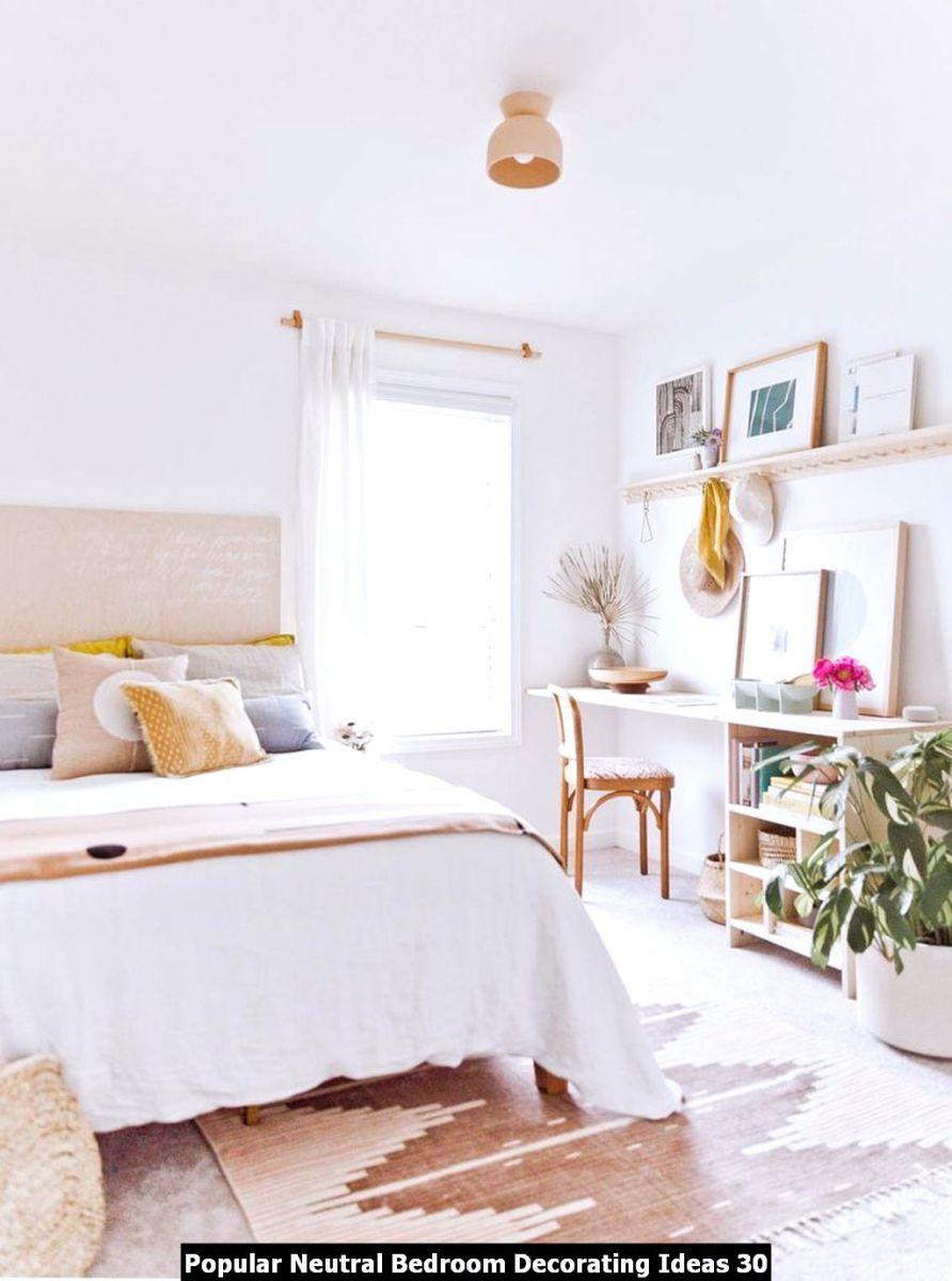 Popular Neutral Bedroom Decorating Ideas 30