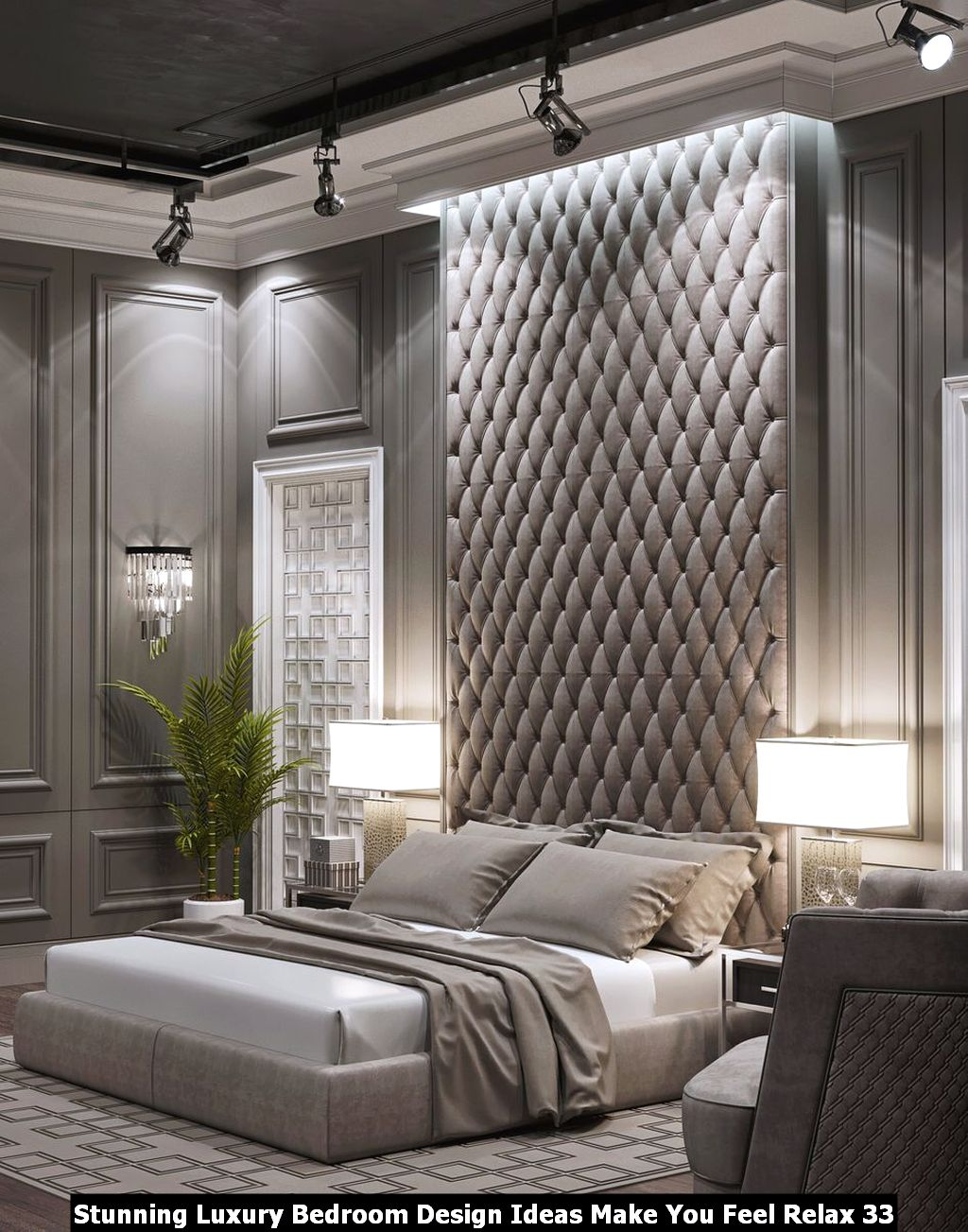 Stunning Luxury Bedroom Design Ideas Make You Feel Relax 33