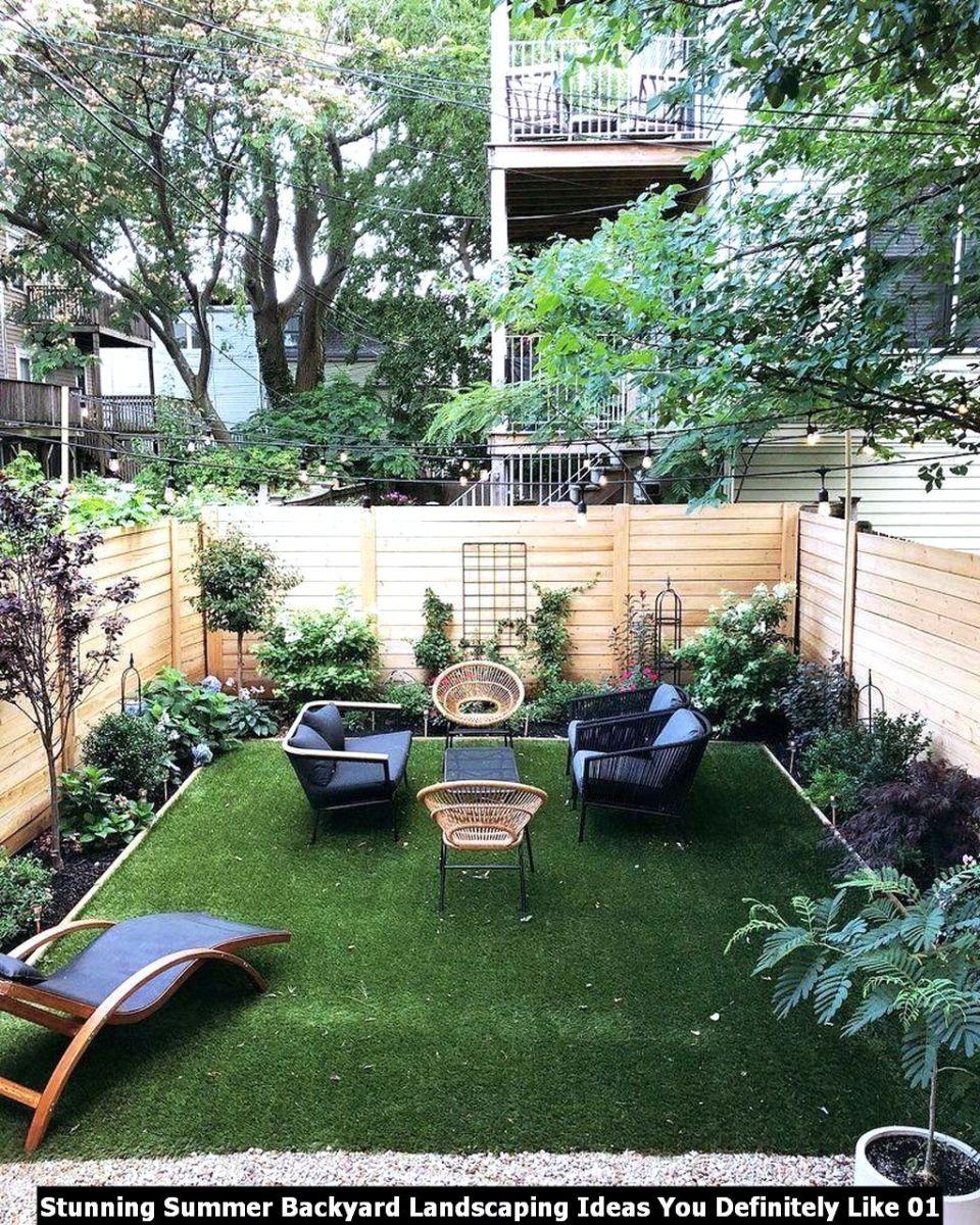 Stunning Summer Backyard Landscaping Ideas You Definitely Like 01