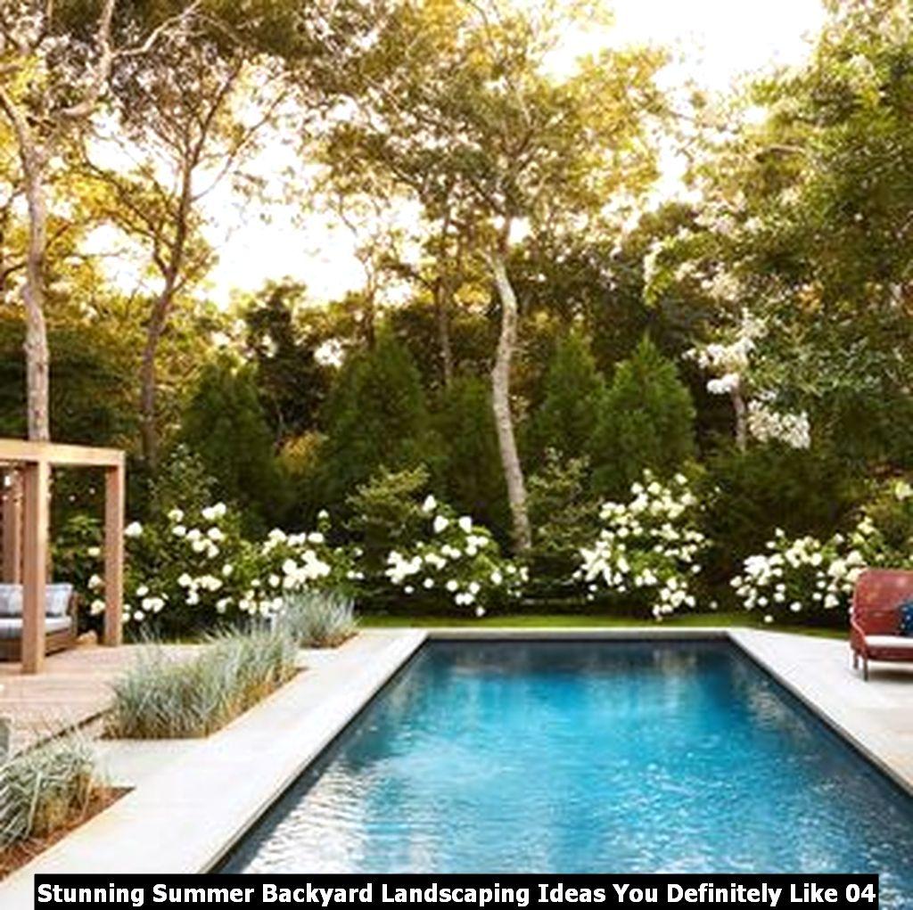 Stunning Summer Backyard Landscaping Ideas You Definitely Like 04
