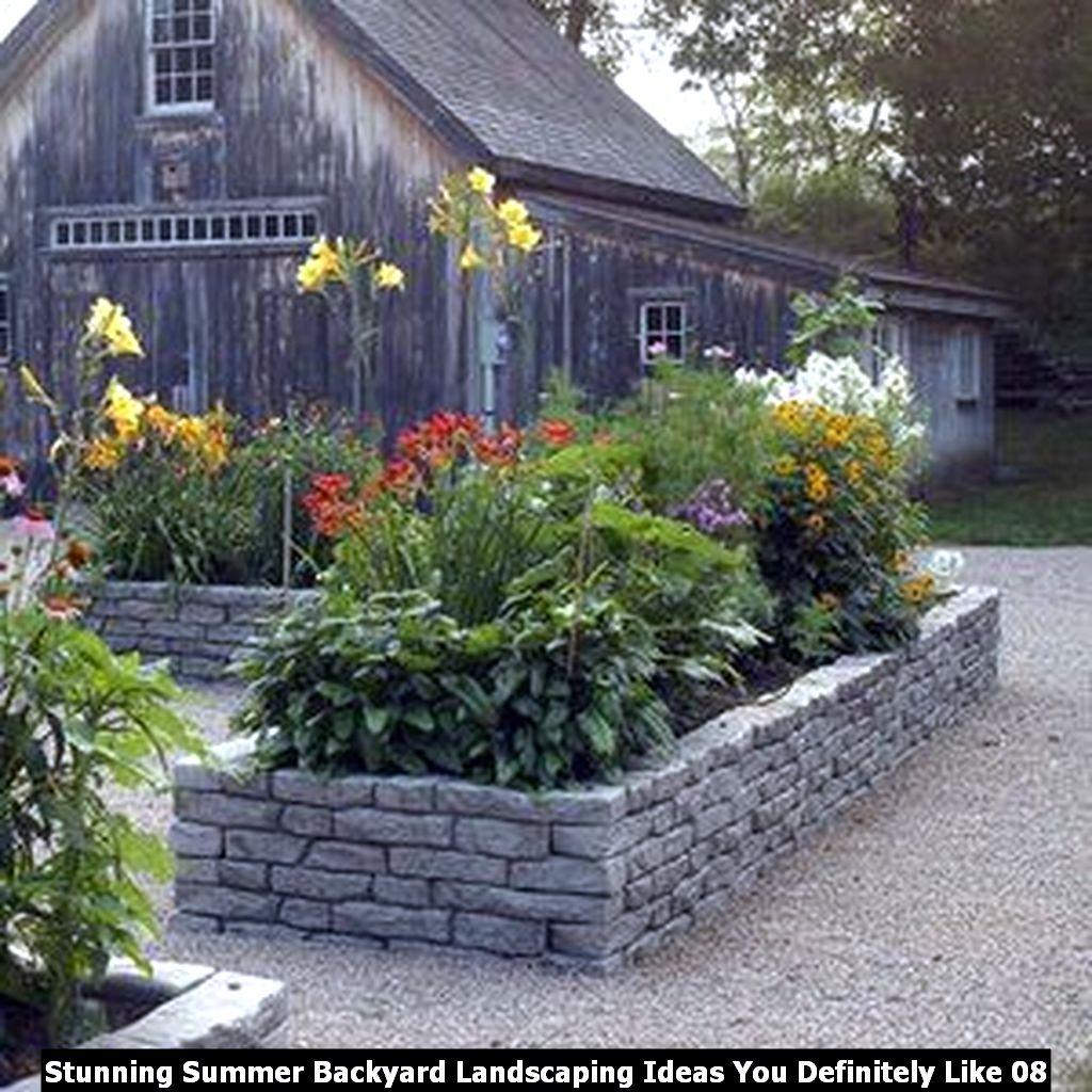 Stunning Summer Backyard Landscaping Ideas You Definitely Like 08