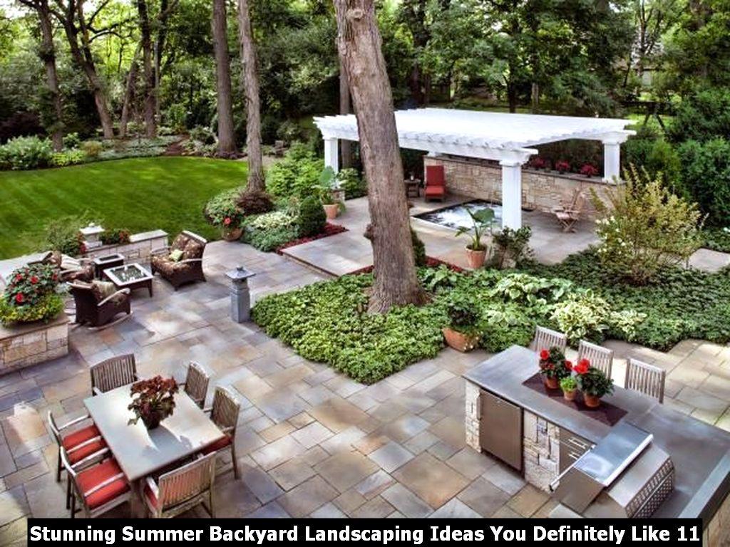 Stunning Summer Backyard Landscaping Ideas You Definitely Like 11