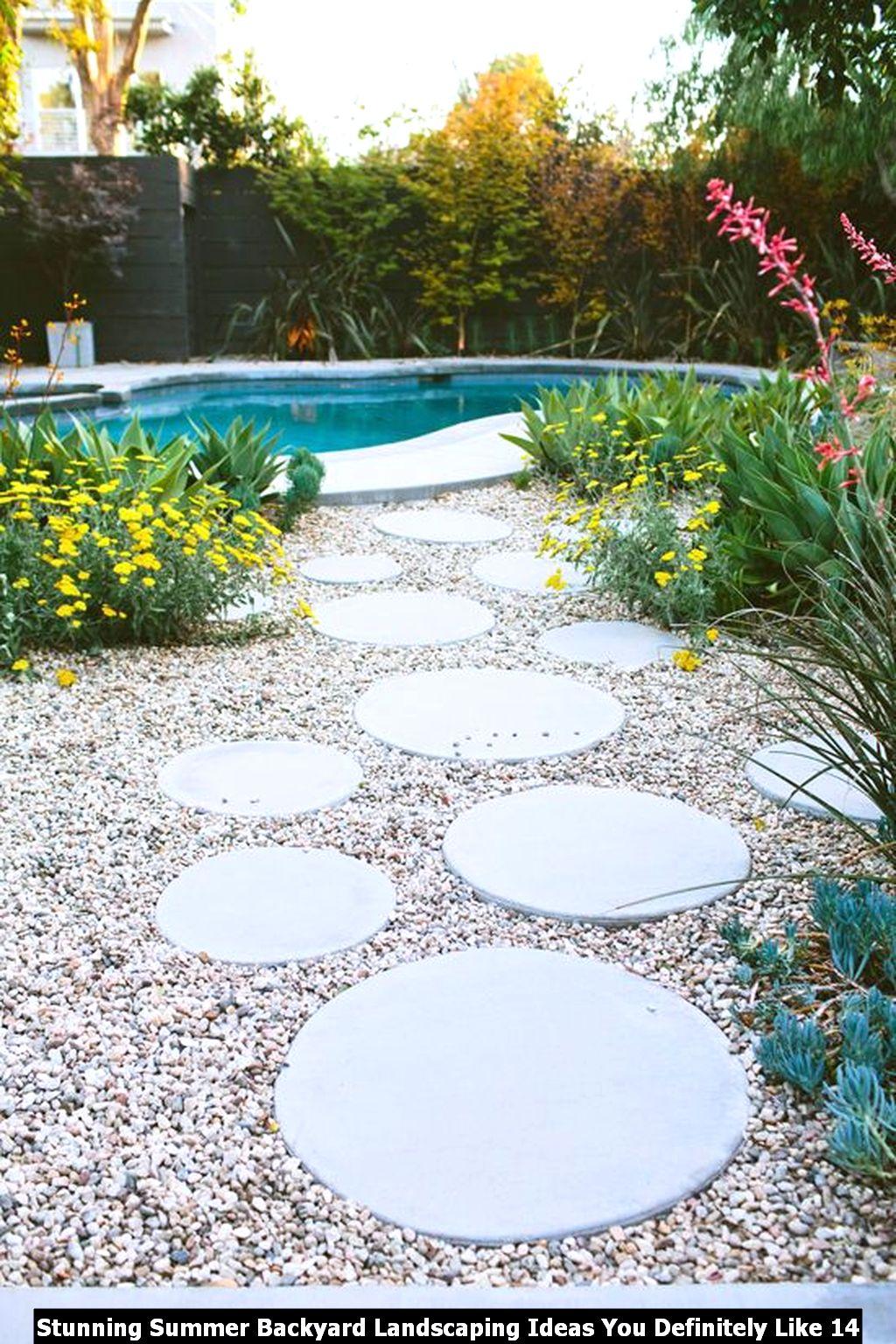 Stunning Summer Backyard Landscaping Ideas You Definitely Like 14