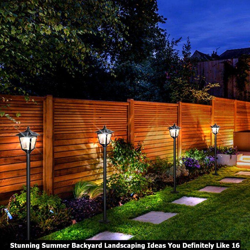 Stunning Summer Backyard Landscaping Ideas You Definitely Like 16