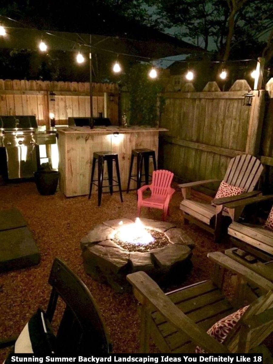 Stunning Summer Backyard Landscaping Ideas You Definitely Like 18