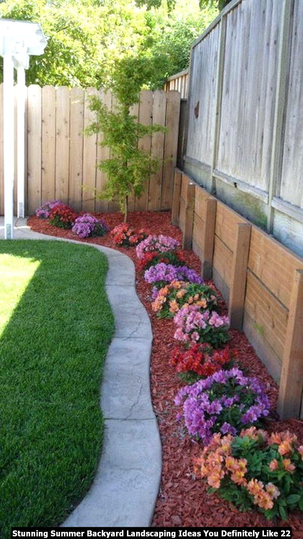 Stunning Summer Backyard Landscaping Ideas You Definitely Like 22