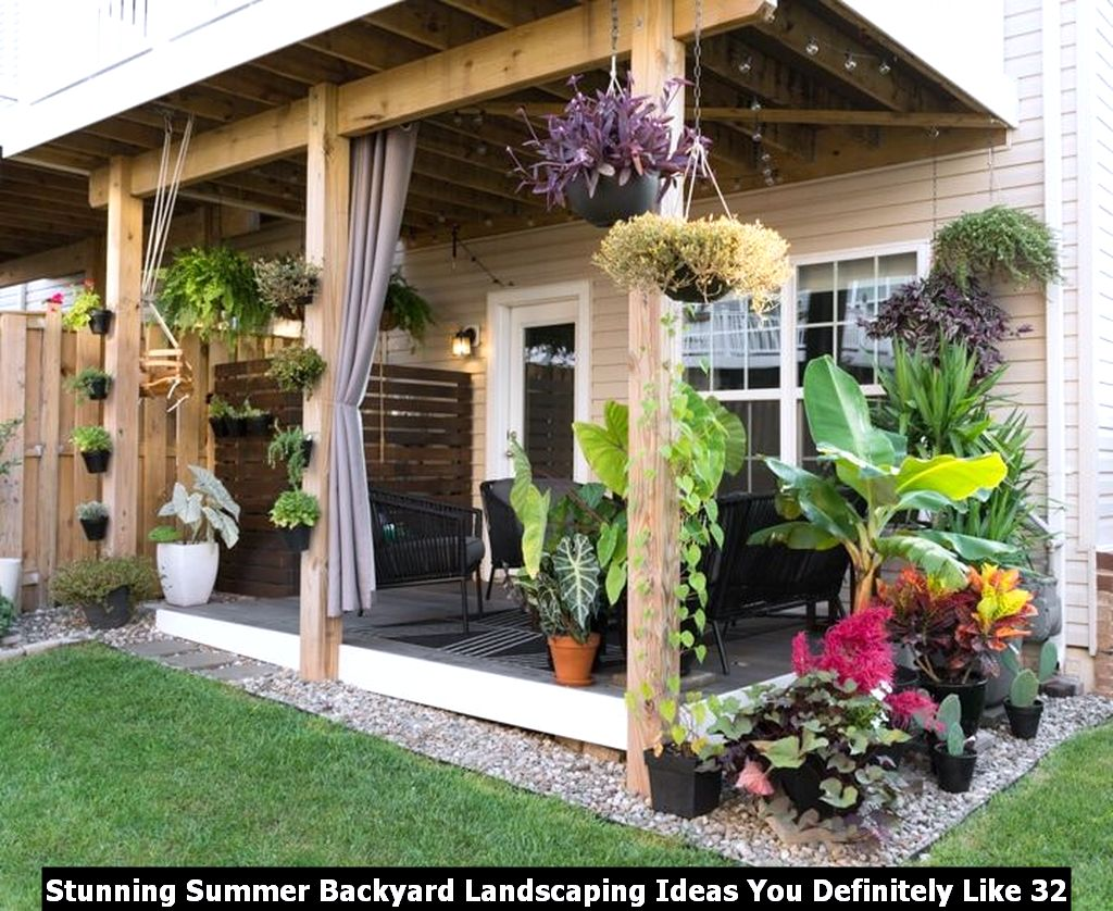 Stunning Summer Backyard Landscaping Ideas You Definitely Like 32