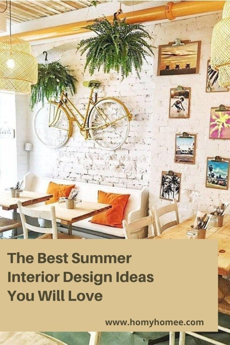 The Best Summer Interior Design Ideas You Will Love