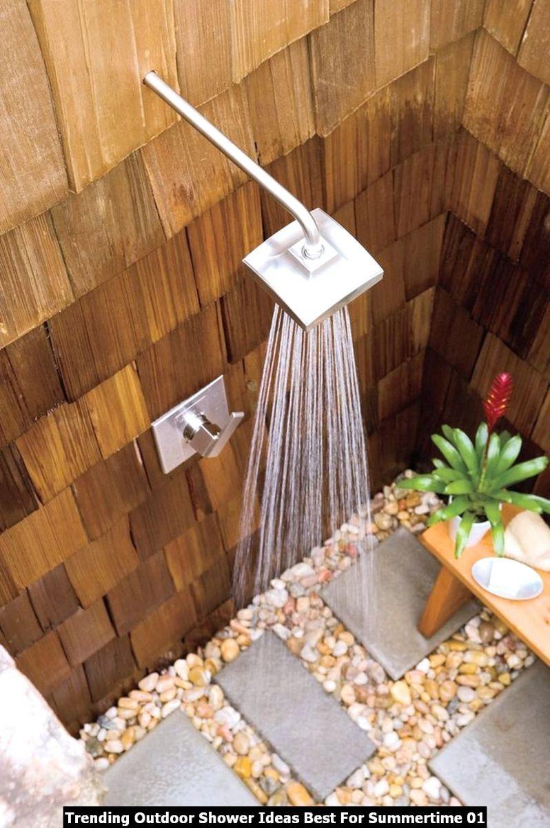 Trending Outdoor Shower Ideas Best For Summertime 01