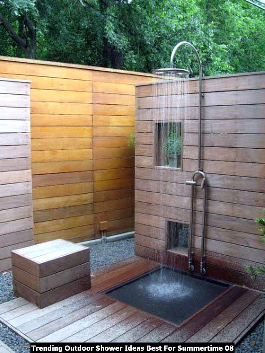 Trending Outdoor Shower Ideas Best For Summertime 08