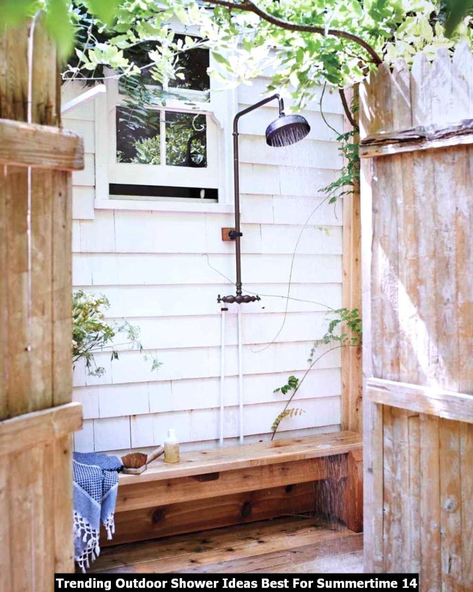 Trending Outdoor Shower Ideas Best For Summertime 14