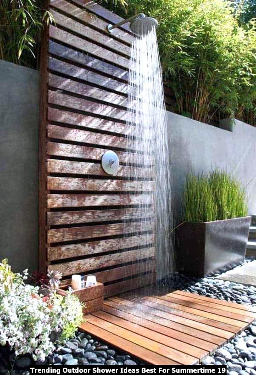 Trending Outdoor Shower Ideas Best For Summertime 19