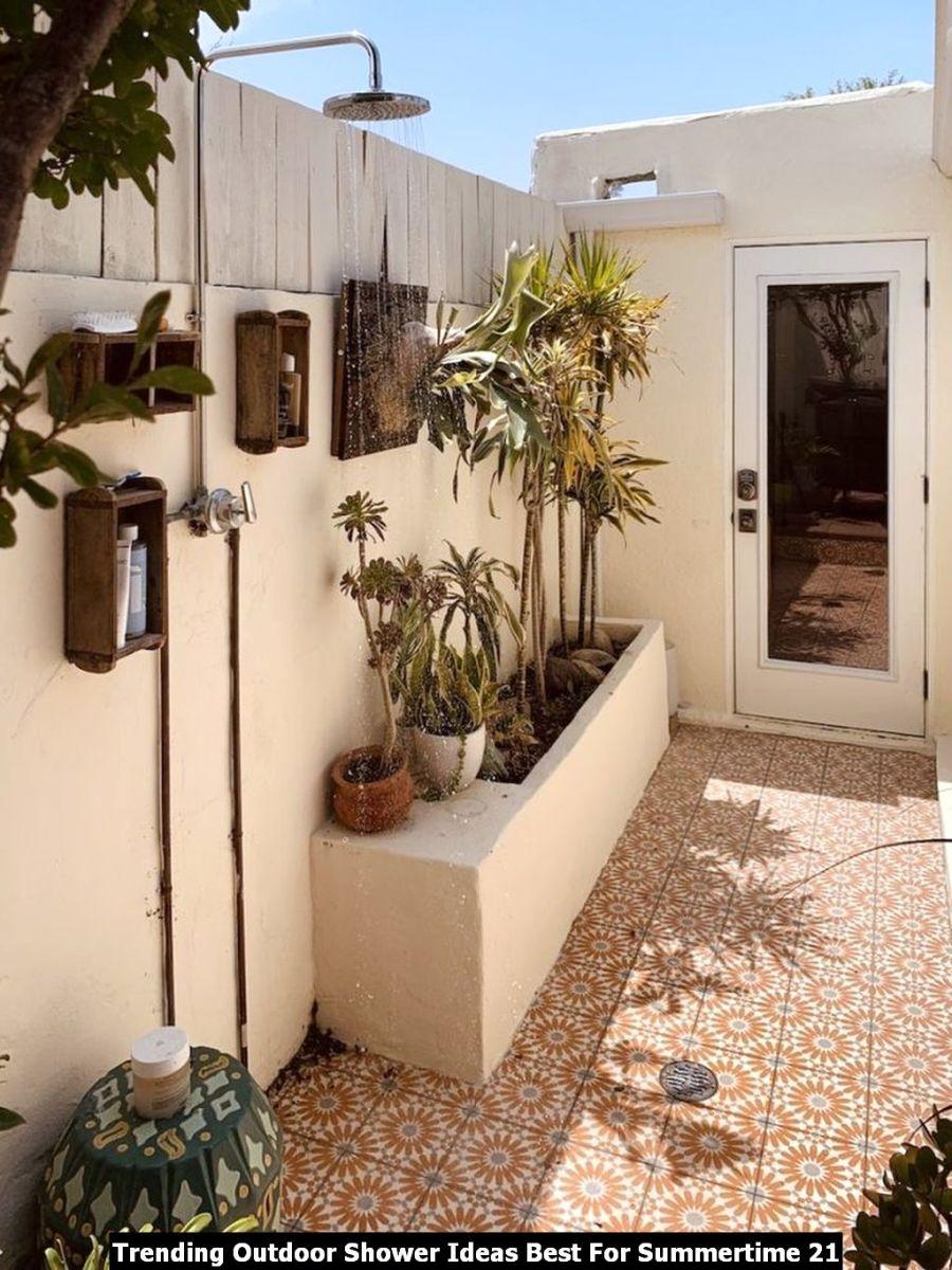 Trending Outdoor Shower Ideas Best For Summertime 21