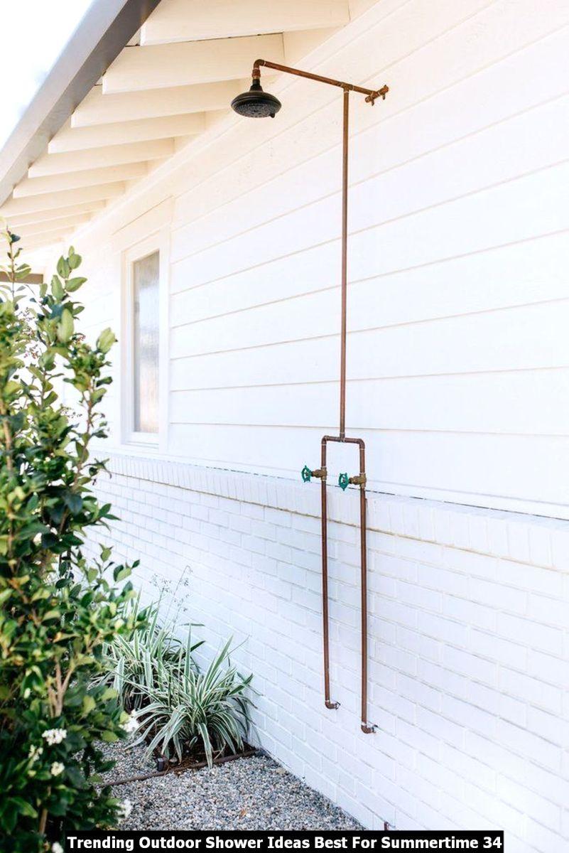 Trending Outdoor Shower Ideas Best For Summertime 34