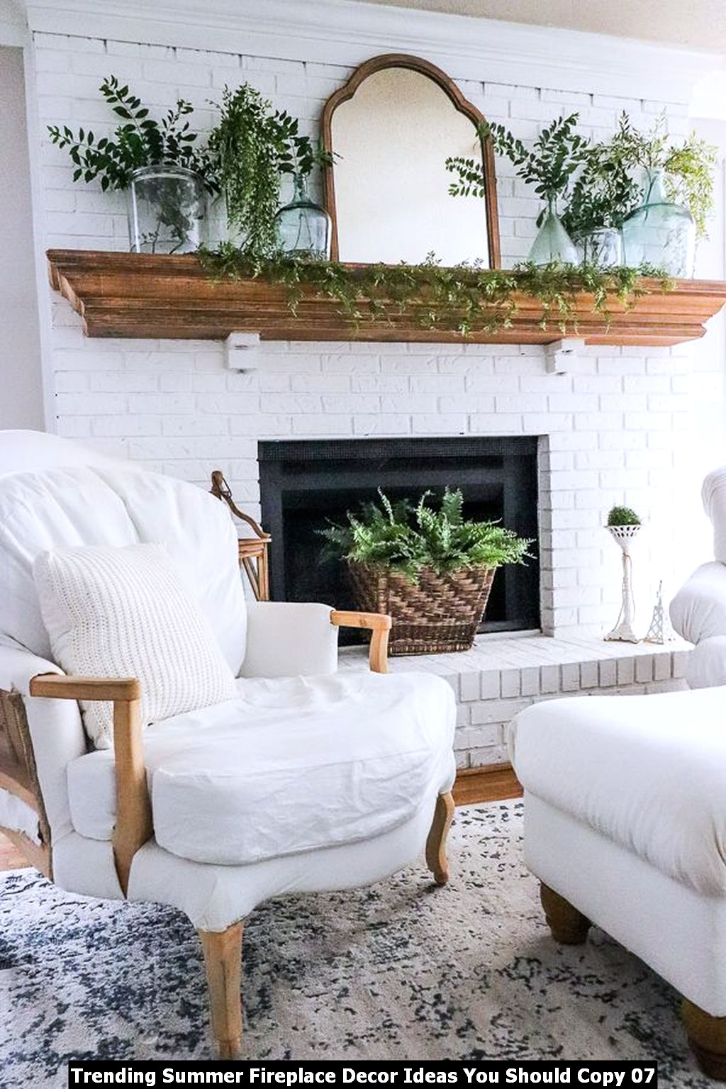 Trending Summer Fireplace Decor Ideas You Should Copy 07