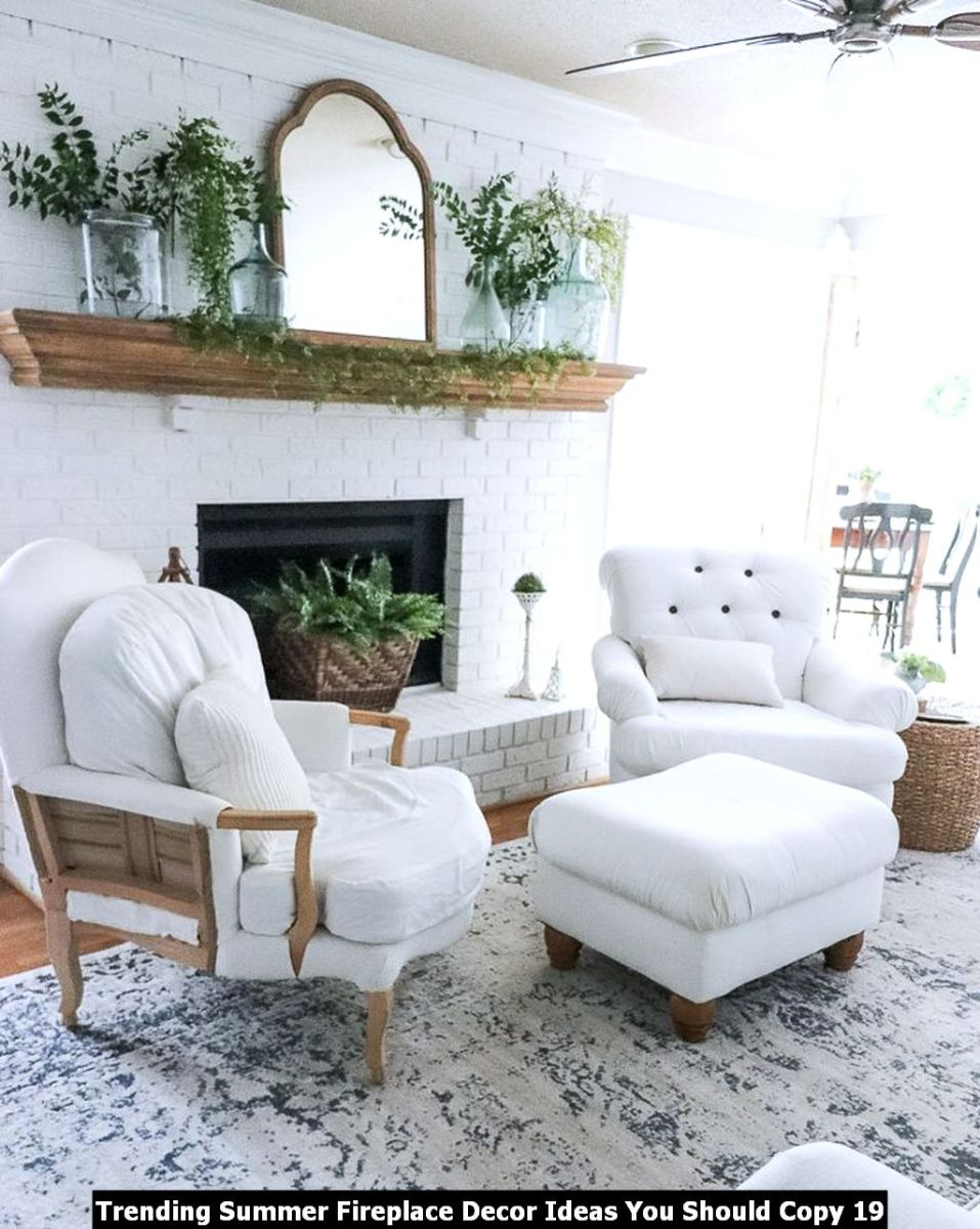 Trending Summer Fireplace Decor Ideas You Should Copy 19