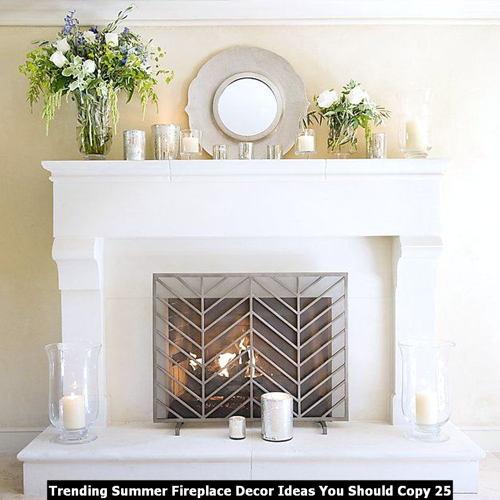 Trending Summer Fireplace Decor Ideas You Should Copy 25