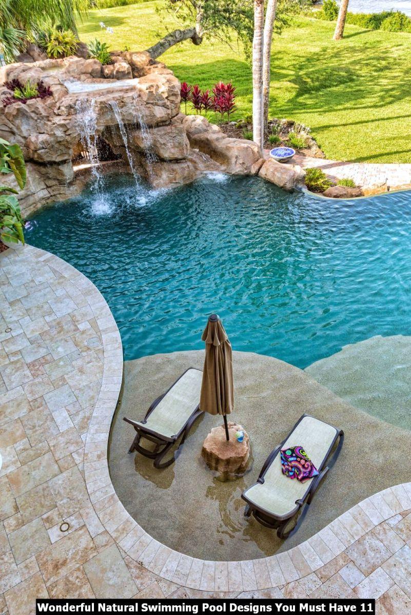 Wonderful Natural Swimming Pool Designs You Must Have 11
