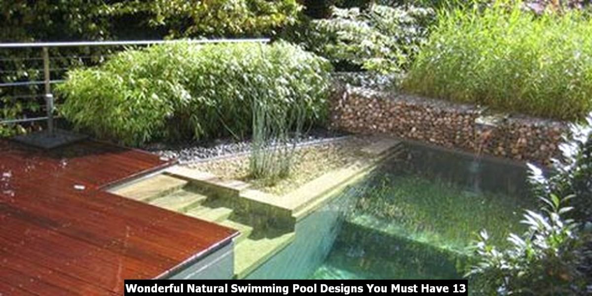 Wonderful Natural Swimming Pool Designs You Must Have 13