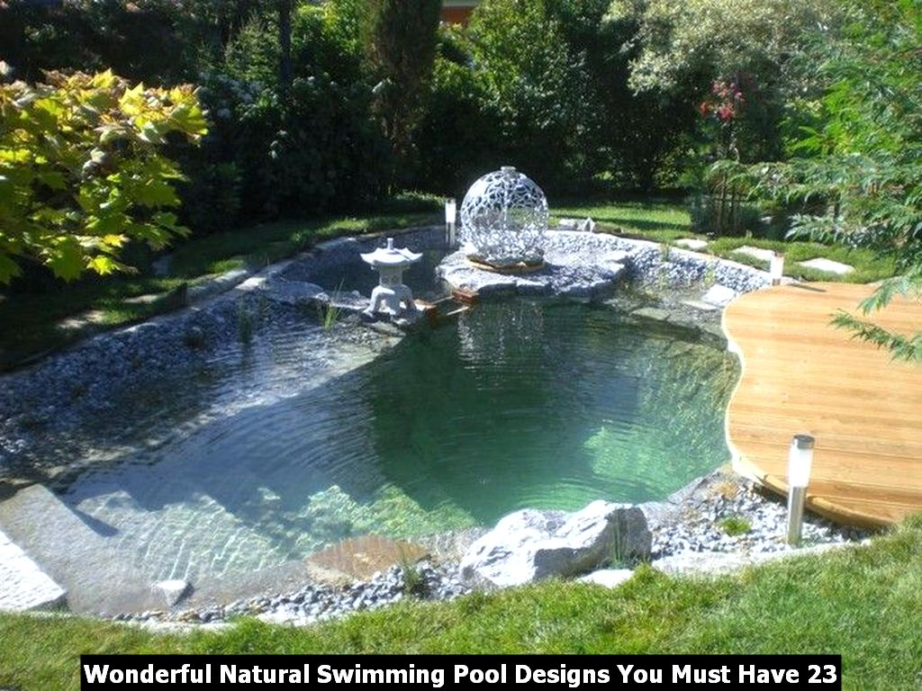 Wonderful Natural Swimming Pool Designs You Must Have 23