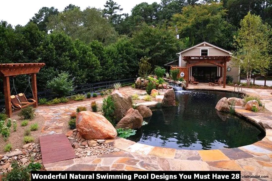 Wonderful Natural Swimming Pool Designs You Must Have 28