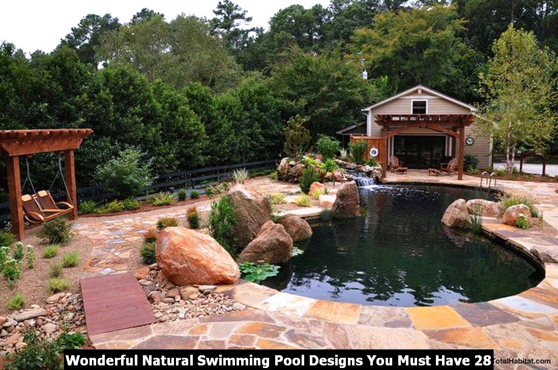 Wonderful Natural Swimming Pool Designs You Must Have 28