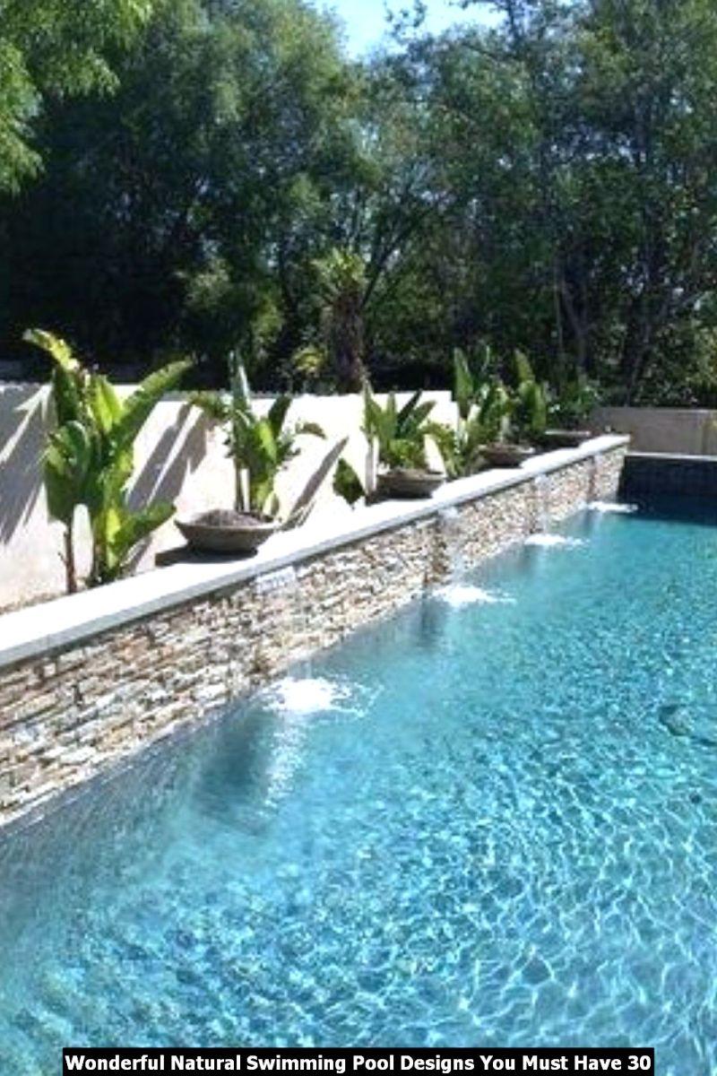Wonderful Natural Swimming Pool Designs You Must Have 30