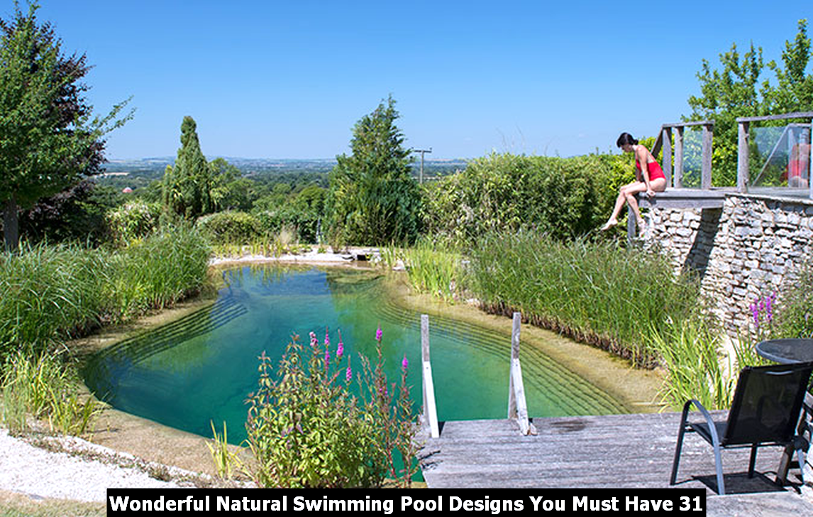 Wonderful Natural Swimming Pool Designs You Must Have 31