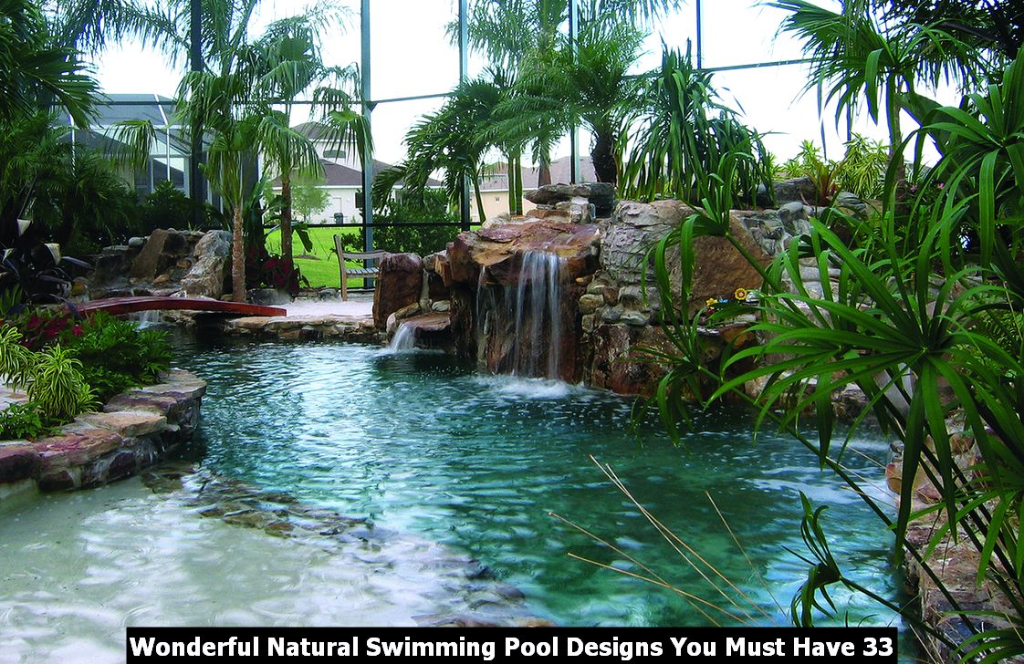Wonderful Natural Swimming Pool Designs You Must Have 33