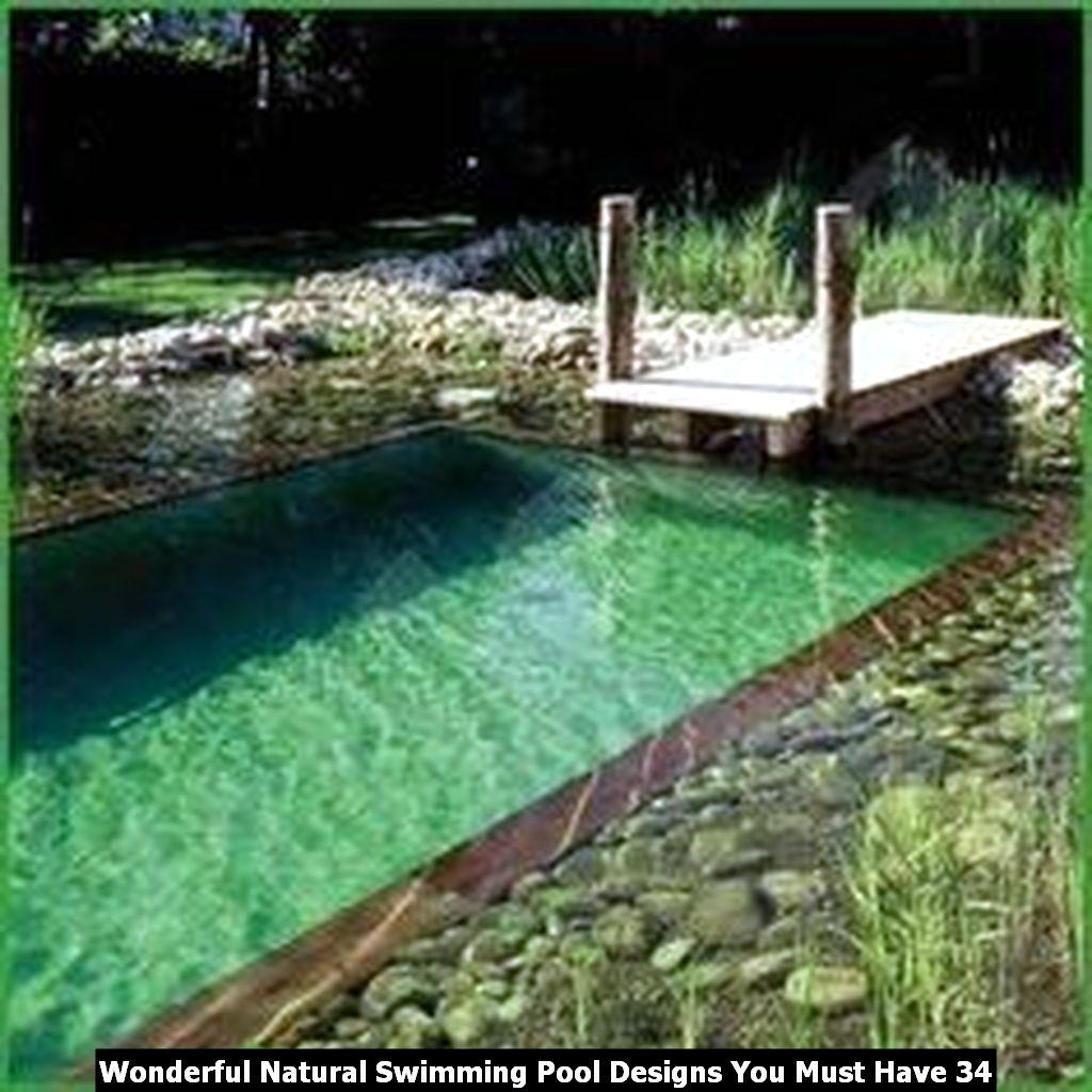 Wonderful Natural Swimming Pool Designs You Must Have 34
