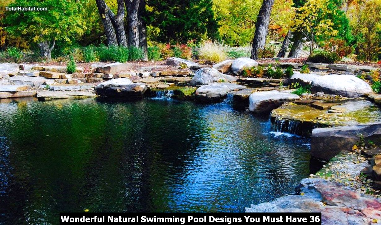 Wonderful Natural Swimming Pool Designs You Must Have 36