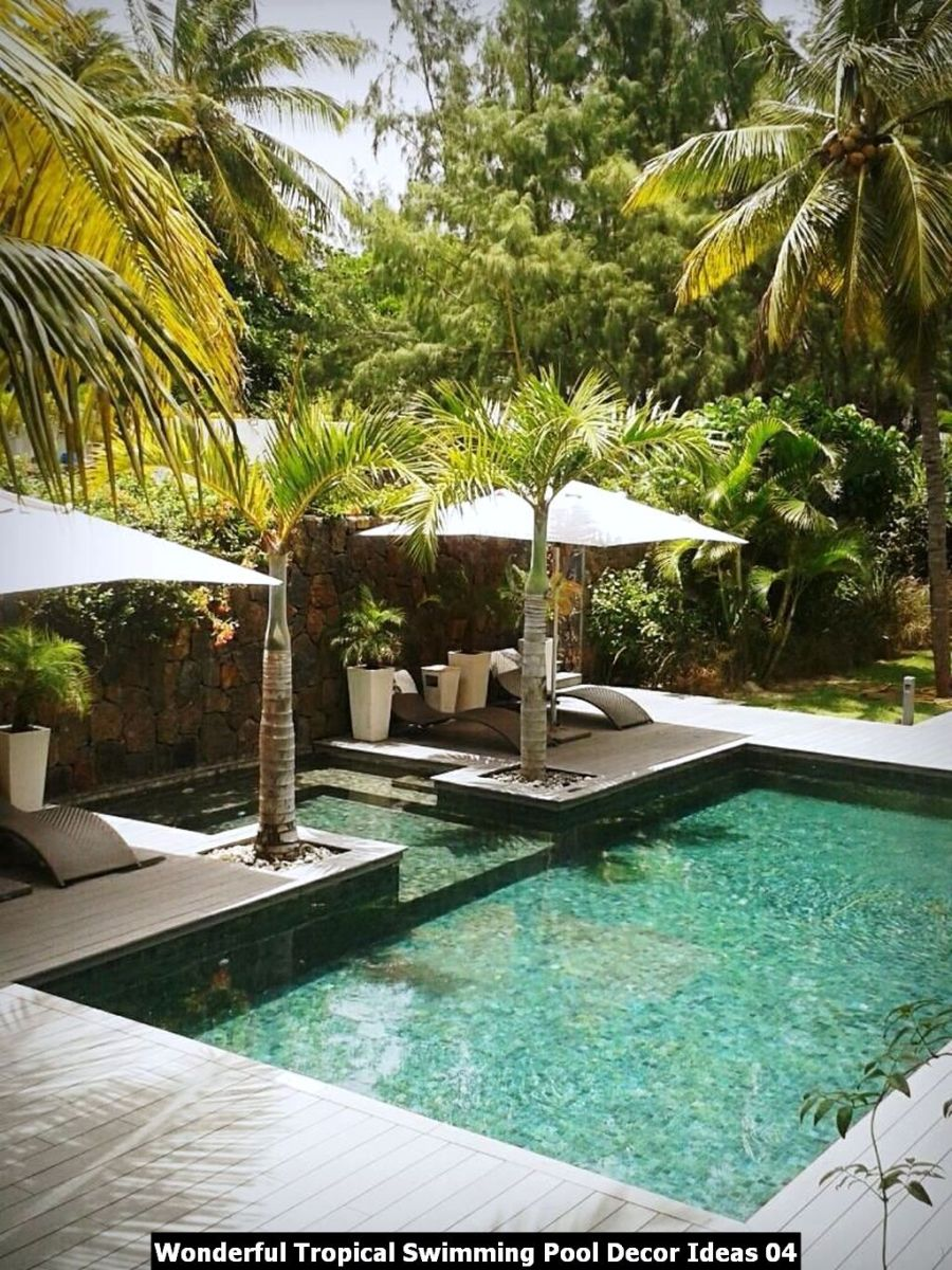 Wonderful Tropical Swimming Pool Decor Ideas 04