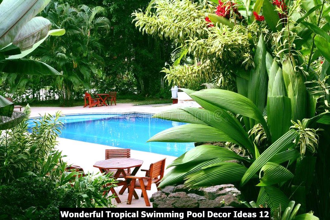 Wonderful Tropical Swimming Pool Decor Ideas 12