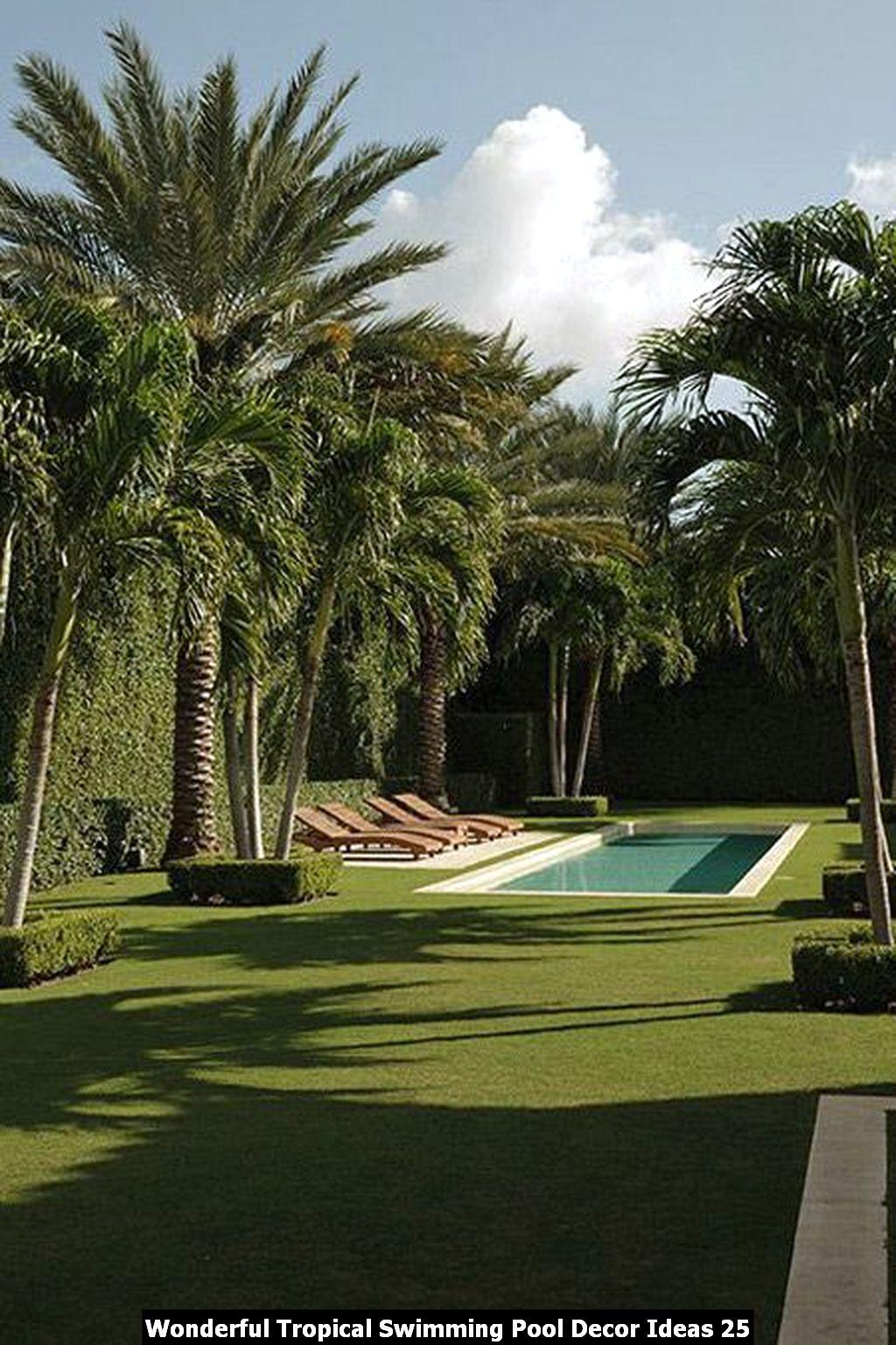 Wonderful Tropical Swimming Pool Decor Ideas 25