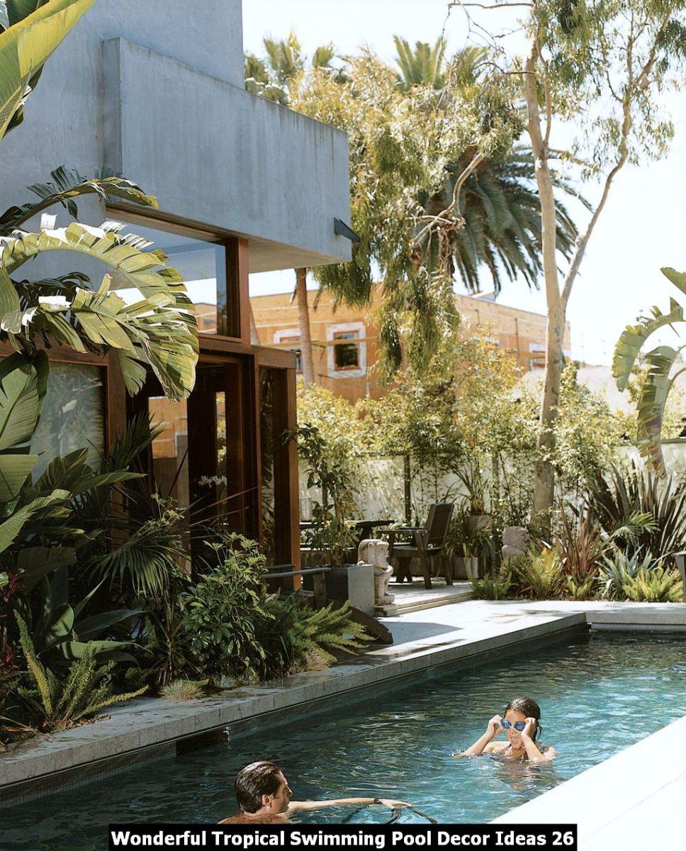 Wonderful Tropical Swimming Pool Decor Ideas 26