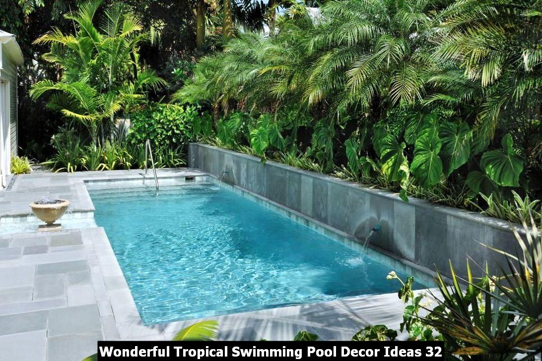 Wonderful Tropical Swimming Pool Decor Ideas 32