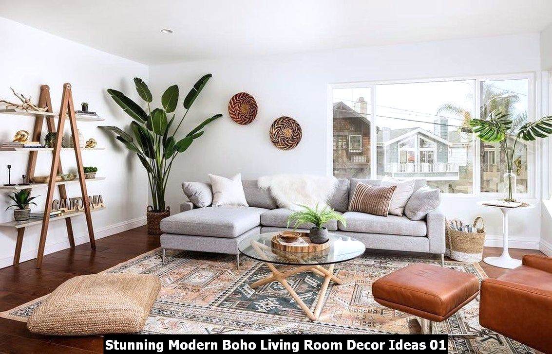 Stunning Modern Boho Living Room Decor Ideas 01